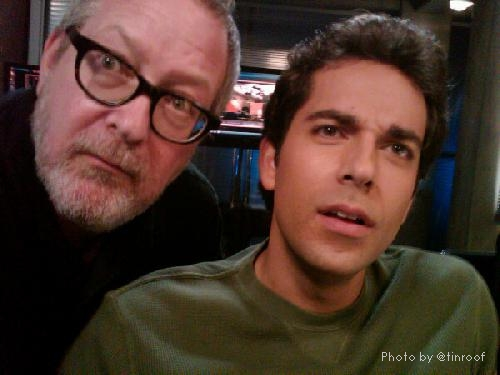 """Its late friday on the #chuck set with one more scene to go. Its the end of the week as we know it."" - Jeremiah with Zachary Levi"