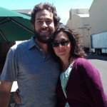 Zachary Levi & Ali Adler on the first day of Season 3 proCHUCKtion / photo from Ali Adler