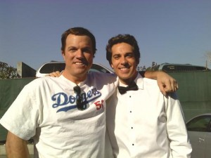 Adam Baldwin & Zachary Levi behind the scenes of the season 3 photoshoot / Adam Baldwin