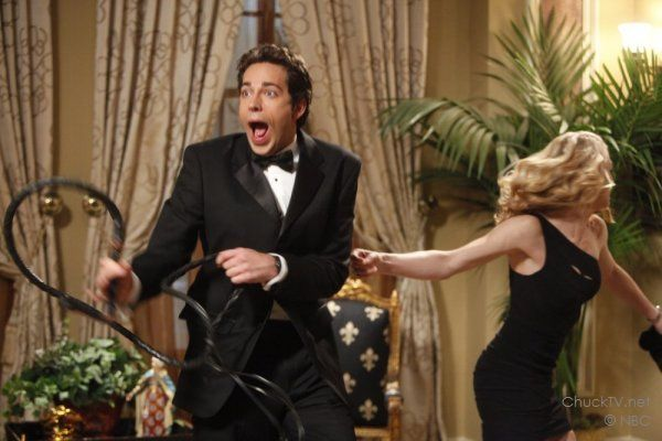 Photo of Zachary Levi and Yvonne Strahovski on Chuck