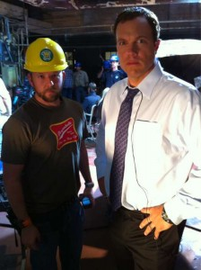 Zachary Levi tweets photos of Adam Baldwin from the set of the Chuck season 4 premiere