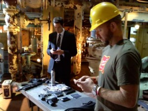 Adam Baldwin sends photos of Zachary Levi on the set of the Chuck season 4 premiere to Twitter