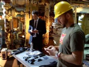 Adam Baldwin sends photos of Zachary Levi on the set of the Chuck season 4 premiere to Twitter
