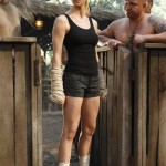 Yvonne Strahovski prepares for battle in Chuck vs. Phase Three