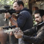 Adam Baldwin and Joshua Gomez with guns in Chuck vs. Phase Three