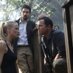 Yvonne Strahovski, Joshua Gomez and Adam Baldwin in Chuck vs. Phase Three