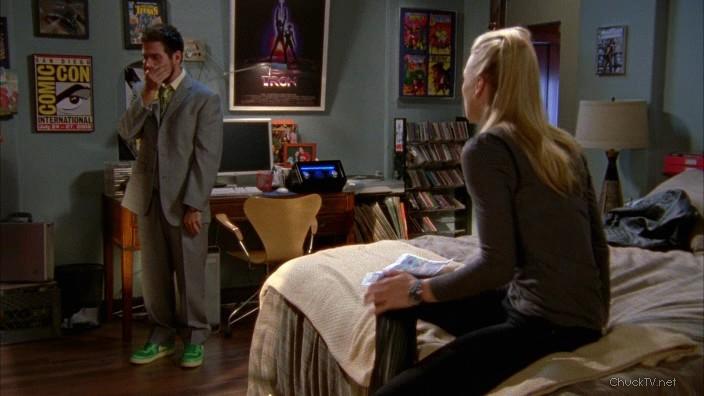 Morgan's custom green shoes