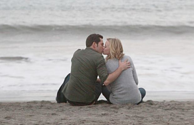 Chuck and Sarah on beach