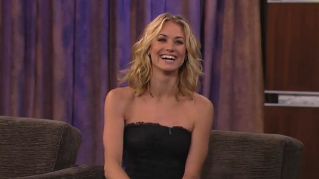 VIDEO: Yvonne Strahovski Guests on Jimmy Kimmel Live