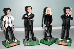 A review of the Chuck collectible figures - Chuck Bartowski, John Casey, Sarah Walker, and Charles Carmichael
