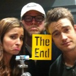 Mercedes Masohn, Robert Duncan McNeill, and Robert Buckley on the final day of filming 666 Park Avenue