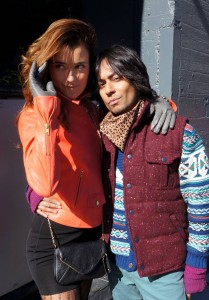 Cote De Pablo and Vik Sahay behind the scenes on NCIS