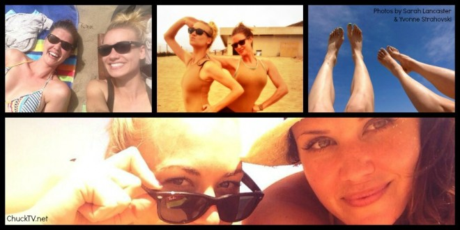 Yvonne Strahovski & Sarah Lancaster Hit the Beach {PHOTOS}