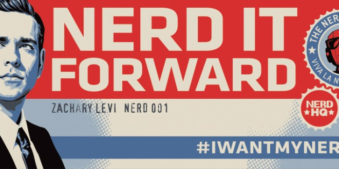 I WANT MY NERD HQ: Win Dinner with Zachary Levi!