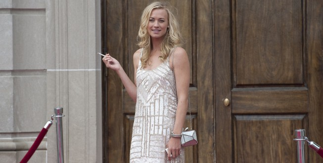 Yvonne Strahovski Guests on LOUIE {PHOTOS}